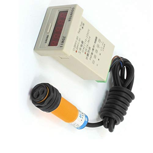 Aexit DC 6-36V PNP 30cm optoelektronisch Sensor Lichtschranke E18-B03P1 mit Zähler de
