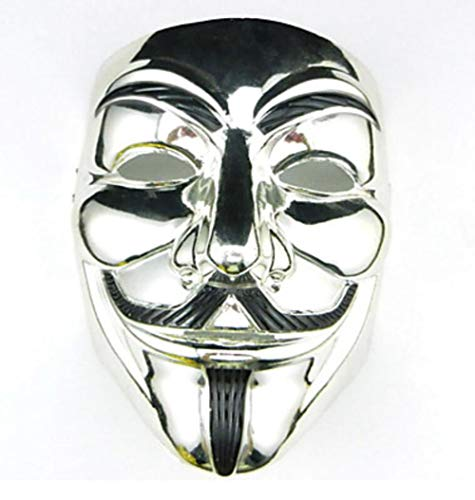 DAXINYANG Cosplay Mask V para Vendetta Mask Anónimo Halloween Masquerade Cosplay Mask Party Costume Prop