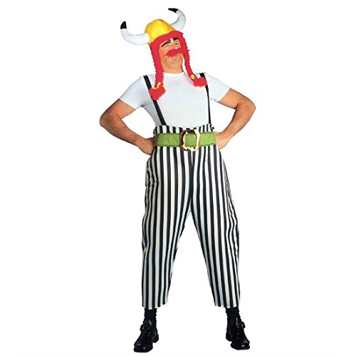 Obelix Kostüm Gallier Herrenkostüm L (52) Obelixkostüm Fasching Gallierkostüm Faschingskostüm Asterix Comic Helden Römer Karnevalskostüm Dicker Wikinger Antike Mottoparty Verkleidung Karneval