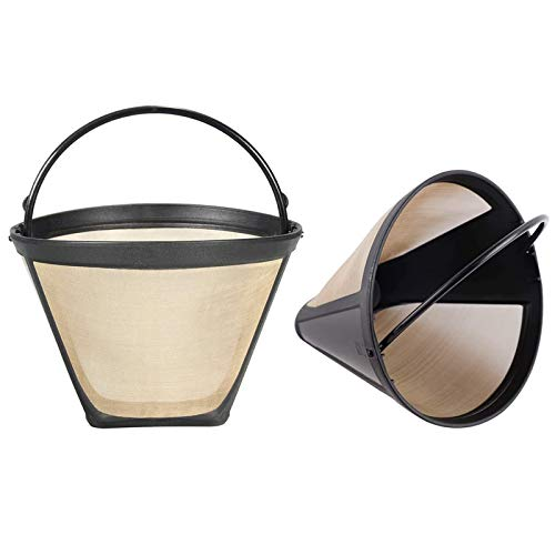 2PCS #4 Cone Reusable Coffee Filters, Replacement Coffee Filter for Hamilton Beach Coffee Maker