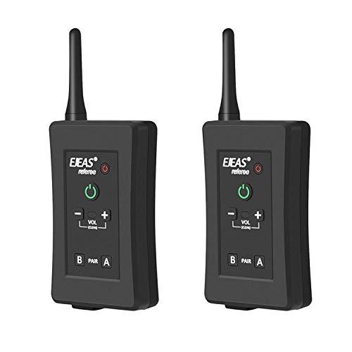 Bluetooth Árbitro Auriculares Comunicación Intercomunicador inalámbrico Entrenador de fútbol 4 personas Radio dúplex completo Walkie Talkie Micrófono con brazalete en funcionamiento,2