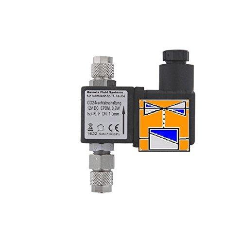 BavariaFluid Magnetventil CO2-Nachtabschaltung - Nur für 12 V Gleichspannung – Mit PG7-Ventilstecker - 53040s+
