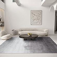 LIN HE SHOP Alfombras de algodón Lavable Gris Area Mano Mano Alfombras Alfombras Rectangulares Grandes, adecuadas para Sala de Estar, Dormitorio, Cocina (tamaño : 180 * 250cm)