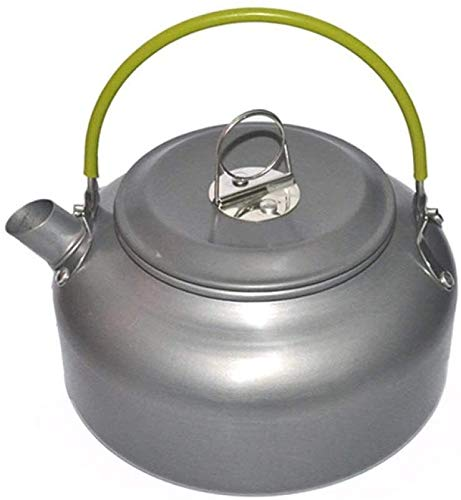 cssd Tetera al aire libre Caldera práctica Portátil Portátil Aleación de aluminio Picnic Cafetera Camping Cocinar Set Utensilios 0.8 l