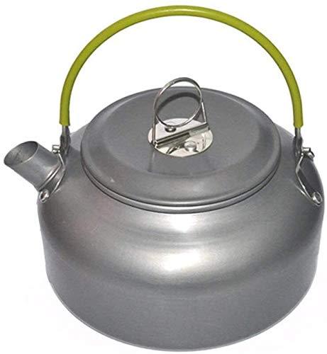 Bouilloire Cuisine Théière en Plein air Pratique Portable Alliage Alliage d'aluminium Pique-Nique Cafetière Camping Cuisine Ensemble de Cuisson Ustensiles 0,8 L XMJ