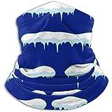 Linger In Calentador de Cuello Snow Icicle Frames Snowdrift Flat Style Scarf, una máscara Facial Completa o Sombrero, Polaina de Cuello, Gorra de Cuello máscara de esquí
