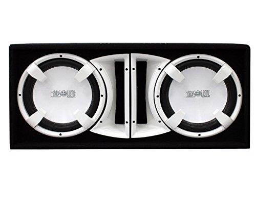 Absolute USA FBD12WI 3000 Watts Bass Box Dual 12-Inch Subwoofer Enclosure Box (White)