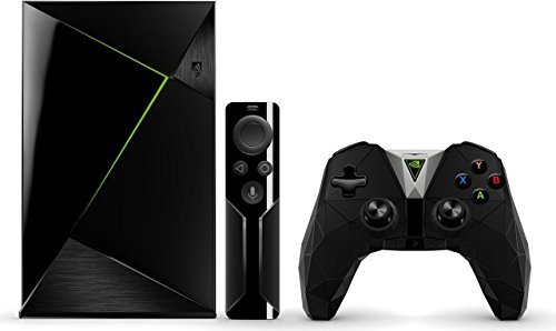 Nvidia Shield TV Pro Media Streaming Player (500 GB, inkl. Fernbedienung und Shield Controller) schwarz