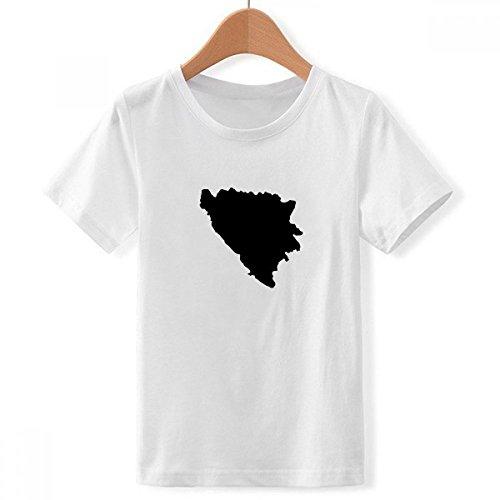 DIYthinker jongens Bosnië en Herzegovina kaart land bemanning nek wit T-Shirt