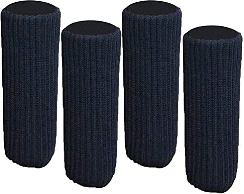 4 Piezas para cinchas de 9-18 cm Fundas de Tapas de pies de Muebles/Calcetines de Pierna de Silla de Punto Protector de Piso de Madera Dura - Brown_3