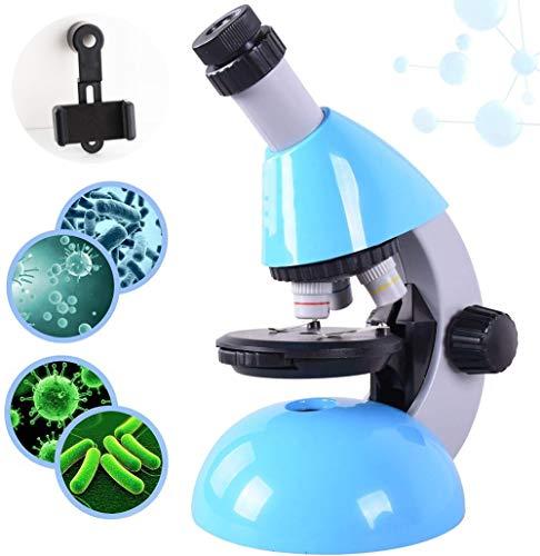 52-Stück for Kinder Anfänger Mikroskop STEM Kit, 800X mit Wissenschaft Kits Anfängern Mikroskop, LED-Licht und Transportbox