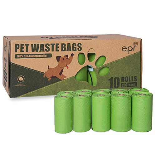 Dog Poop Bags 10 Rolls/150 Pcs, 9 x 13 Inches Biodegradable Dog Bags for Poop - Extra Thick & Leak-Proof