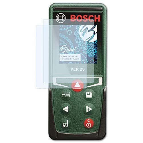 Bruni Schutzfolie kompatibel mit Bosch PLR 25 2016 Folie, glasklare Displayschutzfolie (2X)