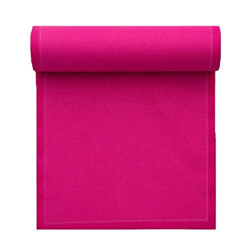 Serviette de table en coton 32x32cm - Rouleau de 12 serviettes - Fuchsia