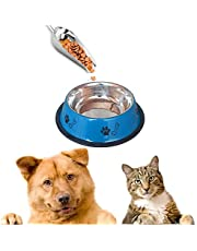 Sage Square Heavy Quality, Round Shape, Anti Skid, Stainless Steel Food/Drink Bowl for Dog/Cat/Other Pets