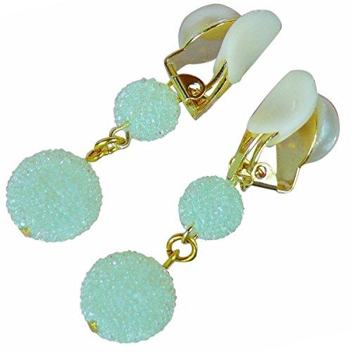 【Jewelry Hanazono】ラビアクリップ ラビアクリップ キャンディ ミルキーグリーン ボディジュエリー bodyjewelry ノンピアス ノンホール セクシー ラインストーン (ゴールド 半球パール)