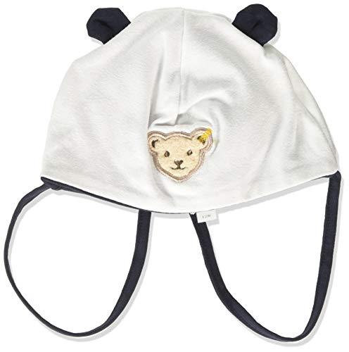 Steiff Baby-Mädchen Mütze mit Bärenohren, Weiß (BRIGHT WHITE 1000), 43