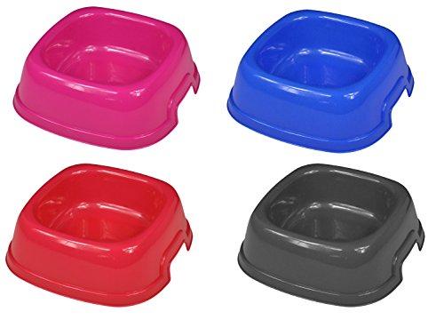 takestop® Ciotola 1 vaschetta PLASTICA Quadrata 20x20cm per Cocker Cane Gatto Animali Domestici MANGIATOIA Cibo Acqua Colore Casuale