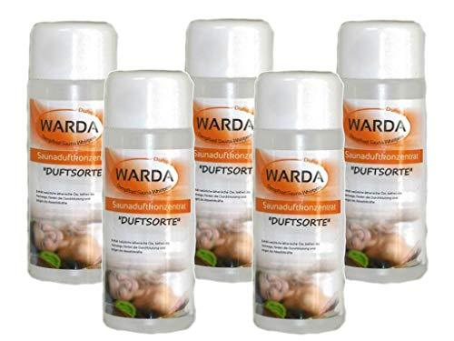 Saunaduftkonzentrat Set 5 x 100 ml von Warda freie Duftwahl aus über 170 Duftsorten - Saunaaufguss Saunaduft Aromaduft Sauna-duft-konzentrat