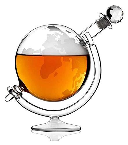 SYZHIWUJIA Decantador de Globo de Whisky, Cristal Transparente, Vidrio, para Licor, escocés, Bourbon, Vodka, 1000ml Licorera