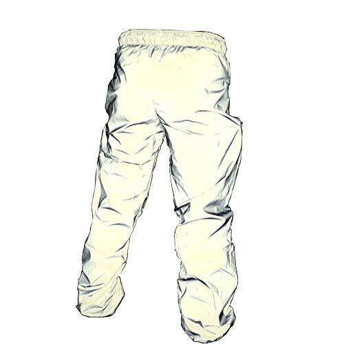 Reflecterende Broeken Heren Running Dance Fietsen Fluorescent Pants (Size : S)