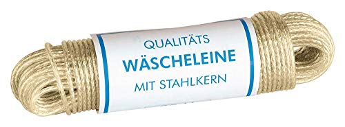 Home Xpert cuerda para tender ropa Tormenta -Completo capa de acero- tendedero, espesor 3,5 mm, longitud: 30 m