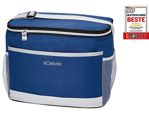 Bomann KT 6013 CB Kühltasche//isolierte thermische Kühltasche// 12 Volt-Anschluss für Auto-/KfZ-Betrieb//ca. 15 L//kühlt bis zu max. 12°C unter Umgebungstemperatur//blau-grau