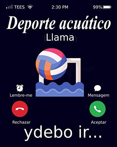 Deporte acuático Llama Ydebo Ir…: Notebook, Deporte acuático Cuaderno / Diario / Libro de escritura / Notas - 6 x 9, 120 páginas