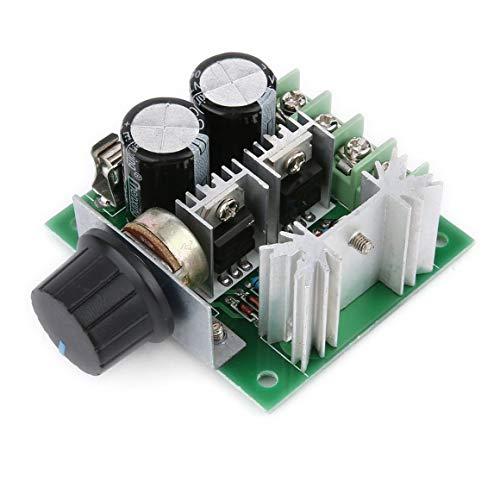 KoelrMsd Universal 12V-40V 10A 13khz Modulación de Ancho de Pulso PWM DC Motor Regulador de Velocidad Controlador Interruptor Negro