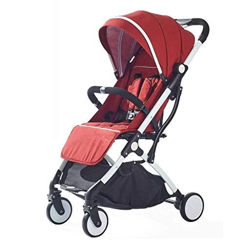 AYDQC Cochecito de Cochecito Convertible, Cochecito de Cochecito Multifuncional, carruaje de Cochecito portátil, Camiones Ligeros para el bebé, Compras (Color: Rojo) fengong