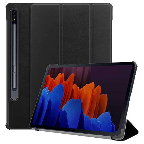 For Samsung Galaxy Tab S7 Case (11'') Inch Case, (T870 / T875) 2020 Ultra Thin with Stand Function Slim Leather Smart Protective Cover compatible with Galaxy S7 11' Tablet (Black)
