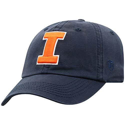 Top of the World NCAA Verstellbarer Hut, Einheitsgröße, mit Symbol, Herren, Illinois Fighting Illini, Einstellbar