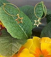 Orecchini STELLA, orecchini a cerchio, orecchini dorati, orecchini a cerchio grandi, orecchini donna, orecchini estate,...