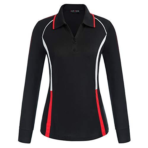Chaquetas Deportivas Mujer Sudadera Fitness y Cremallera de Manga Larga para Gimnasio Gym Running Correr Ciclismo JS2037-1 XL