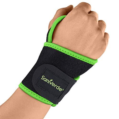 Handgelenk Bandage mit Klettverschluss, Handgelenkstütze, Handgelenkschoner - Stabilisation der Handgelenke bei Fitness und Belastungen, Handgelenk Bandagen Sport