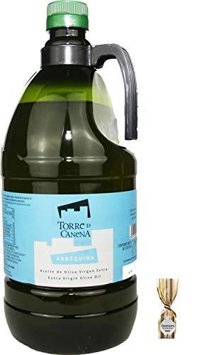 Olivenöl Arbequina aus Canea, Kaltgepresst; Extra Vergine Qualität 2 Liter Flasche; ausgesucht von LENZ Vegetarische Ernährung; Kostenloser Versand plus1 Trüffelpraline.