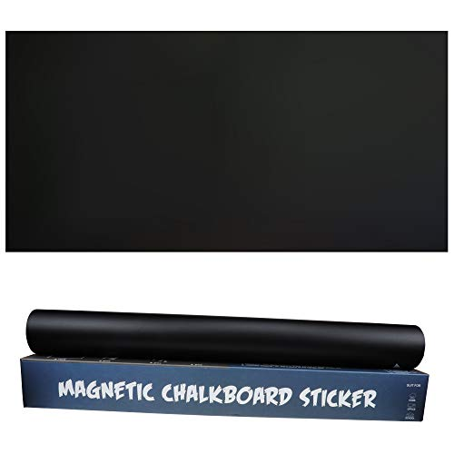 Magnetic Chalkboard Contact Paper 48×24 inch Self-Adhesive Peel and Stick Chalkboard Wallpaper Ideas for Kids/Office/Home/School/Art/Decoration