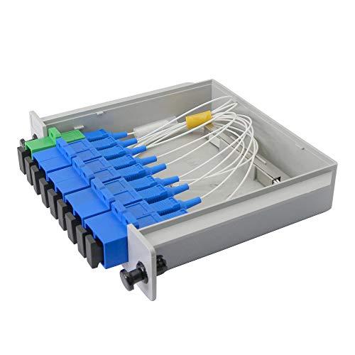 Distribuidor de fibra óptica PLC enchufable 1 x 8, KANGPING se...