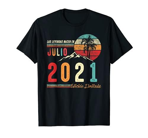Las Leyendas Nacen en Julio 2021 1 cumpleaños Hombre Regalo Camiseta