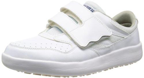 [ミドリ安全] 作業靴 耐滑 マジックタイプ スニーカー H716 N メンズ ホワイト 22.0(22cm)