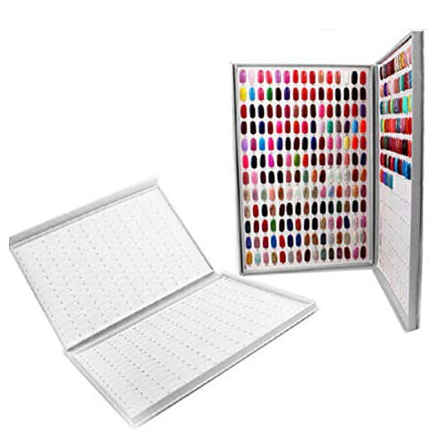 HZWLF Nail Display Book 308 Nail Color Card Display Box Nail Polish Display Nail Art Salon Display Nail UV Glue Color