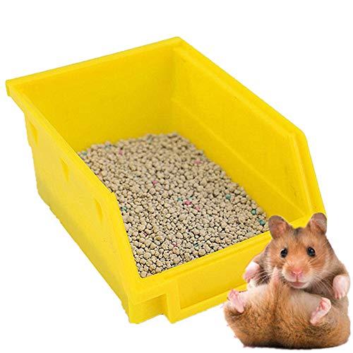 GuangLiu Meerschweinchen Zubehoer Kaninchen Toilette Kaninchenkäfig Rattenstreutablett Meerschweinchenstreu Kaninchenstreu Tablett Random-Color,M