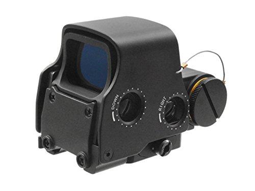 BEGADI Advanced Holo Sight, rot/grün beleuchtet, Reddot Scope mit 20-23mm Weaver Montage, Rotpunkt Visier matt schwarz