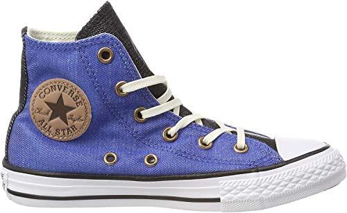 Converse Unisex-Kinder Chuck Taylor All Star High Fitnessschuhe, Blau (Nightfall Blue/Black/White 441), 31 EU