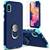 lovpec Galaxy A10e Case with Soft TPU Screen Protector, Ring Magnetic Holder Kickstand Shockproof Protective Phone Cover Case for Samsung Galaxy A10e 5.8 inches (Navy)