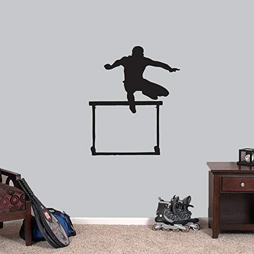 Pegatinas de pared para dormitorio, citas motivacionales, deportes, correr, saltador, habitación de niños, arte, papel tapiz, hogar, sala de estar, calcomanía, oficina, acrílico, extraíble, 68x57cm