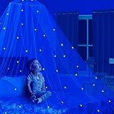 Dosel para cama de niños con estrellas Glow in the dark. Cuna para bebés. Tienda de camp...