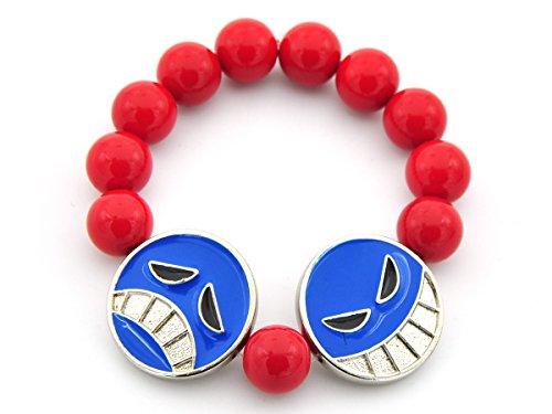 CoolChange One Piece Puma D. Ace Armband mit 2 großen Smileys