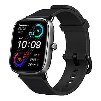 Amazfit GTS 2 Mini Smart Watch GPS Fitness Tracker for Men Women Alexa Built-in 14 Days Battery Life 70+ Sports Modes Blood Oxygen Heart Rate Sleep Monitor AMOLED Screen 5 ATM Waterproof-Black