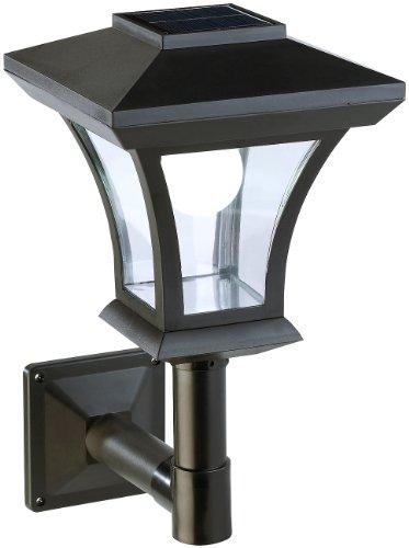 Lunartec Außenwandleuchte: Solar-LED-Wandleuchte WL-345, 45 Lumen, 0,3 Watt (Solar LED Laterne)